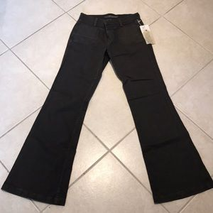 Flare leg stretch pants